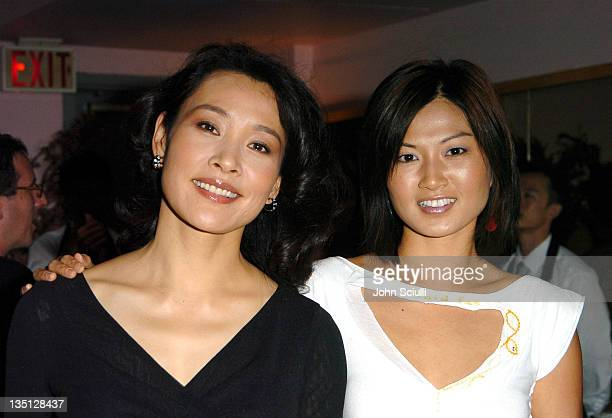 Joan Chen and Michelle Krusiec during 2004 Toronto International Film Festival 'Saving Face' Cocktail Party at Pink Pearl in Toronto Ontario Canada