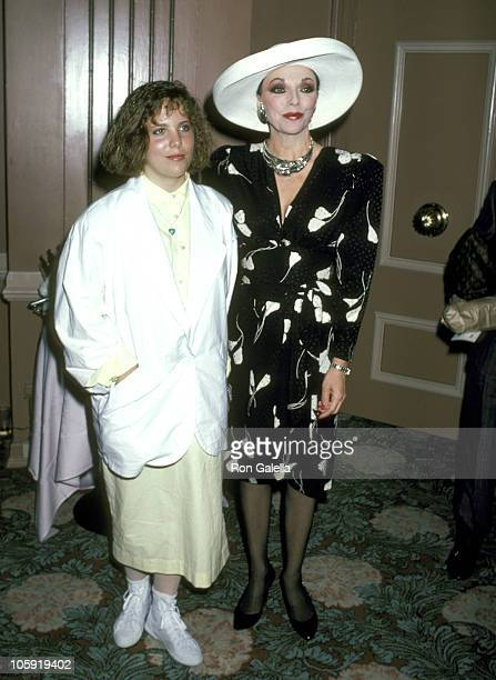 Joan Collins and Daughter Katyana Kass during 6th Annual Celebrity MotherDaughter Fashion Show at Beverly Hilton Hotel in Beverly Hills California...