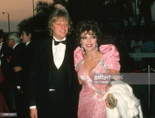 Joan Collins and Husband Peter Holm during 11th Annual People's Choice Awards at Santa Monica Civic Auditorium in Santa Monica California United...