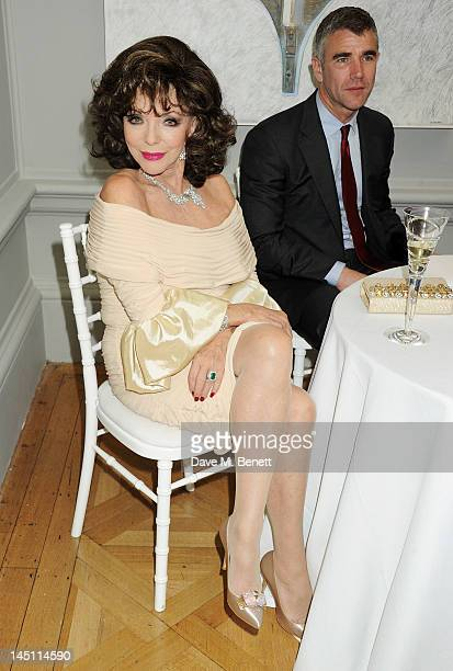 Joan Collins and Ivan Massow attend 'A Celebration Of The Arts' at Royal Academy of Arts on May 23 2012 in London England