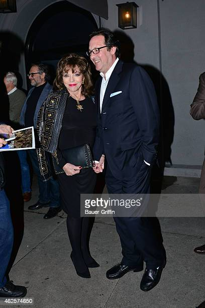 Joan Collins and Percy Gibson are seen on January 30 2015 in Los Angeles California