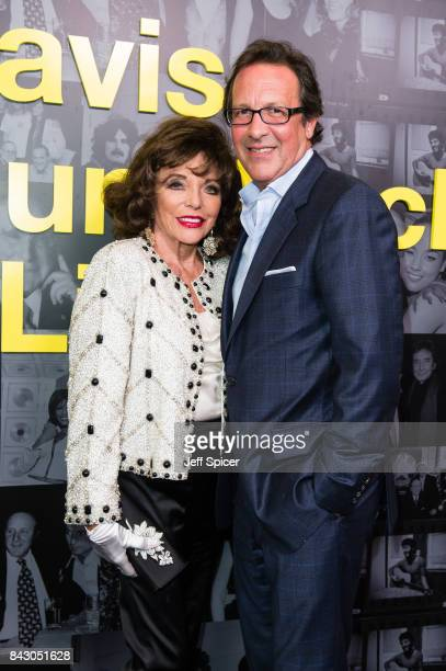 Joan Collins and Percy Gibson attend the Clive Davis 'Soundtrack Of Our Lives' special screening at The Curzon Mayfair on September 5 2017 in London...