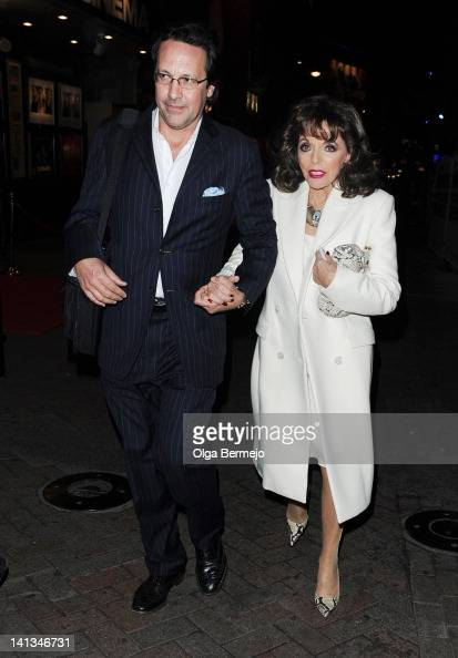 Joan Collins and Percy Gibson sighting on March 14 2012 in London England