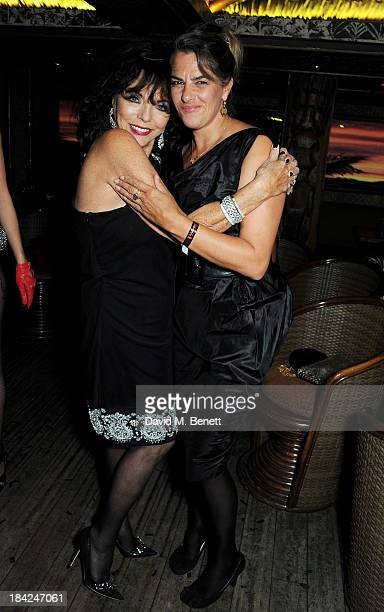 Joan Collins and Tracey Emin attend a private dinner hosted by Joan Collins at Mahiki on October 12 2013 in London England