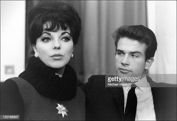 Joan Collins and Warren Beatty who are engaged
