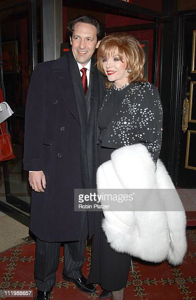 Joan Collins ands husband Percy Gibson during 'Chicago' Special Screening to Benefit GLAAD and Broadway Cares at The Ziegfeld Theater in New York...