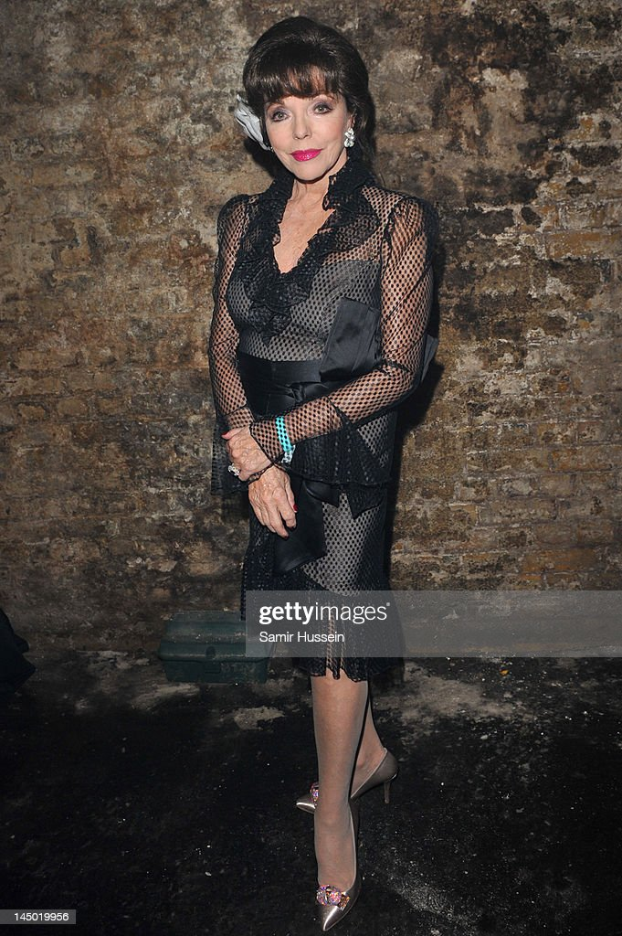 Joan Collins arrives at 'A Night Out With The Millennium Network' at the Old Vic Tunnels, presented by The Clinton Foundations and The Reuben Foundation. The evening, hosted by Bill Clinton, Chelsea Clinton, Gwyneth Paltrow and Will i Am took place on the 22nd May 2012 in London, England.