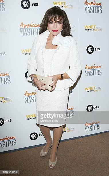 Joan Collins arrives at the Los Angeles premiere of 'Inventing David Geffen' held at Writer's Guild Theater on November 13 2012 in Los Angeles...
