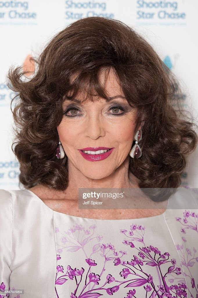 Joan Collins arrives for Star Chase Children's Hospice Event at The Dorchester on May 27, 2016 in London, England.