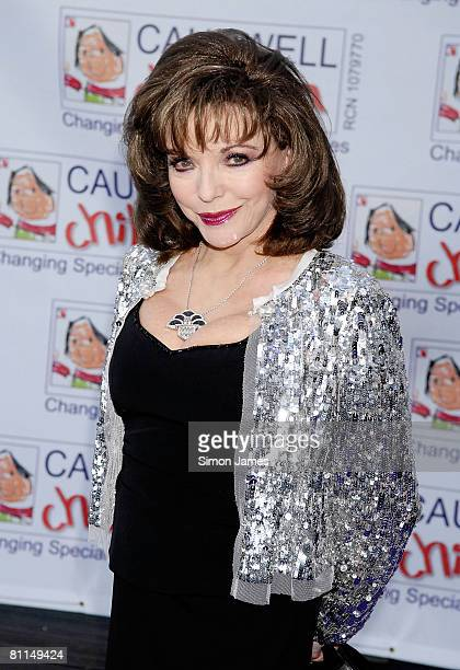 Joan Collins arrives for the Caudwell Children 'The Legends Ball' at Battersea Evolution on May 8 2008 in London England