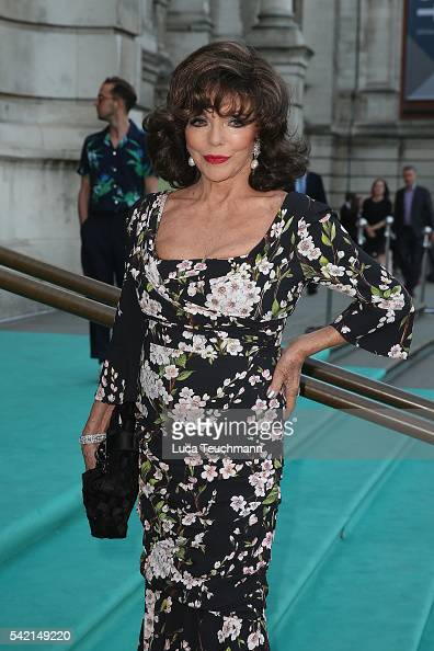 Joan Collins arrives for the VA Summer Party at Victoria and Albert Museum on June 22 2016 in London England