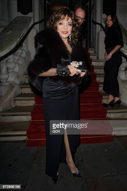 Joan Collins arriving at the Global Gift Gala event on November 18 2017 in London England