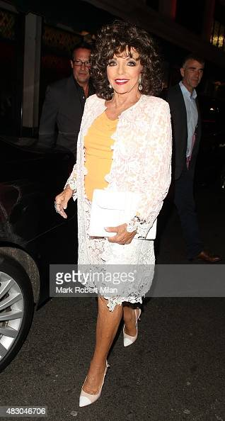 Joan Collins at The Ivy Restaurant on August 5 2015 in London England