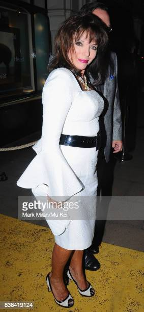 Joan Collins attending the 'Beautiful Inside My Head' party at Sotheby's auction house in Bond Street on September 12 2008 in London England
