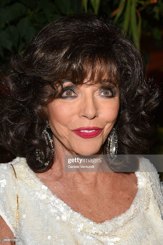 Joan Collins attends Monika Bacardi Summer Party 2014 St Tropez at Les Moulins de Ramatuelle on July 27, 2014 in Saint-Tropez, France.