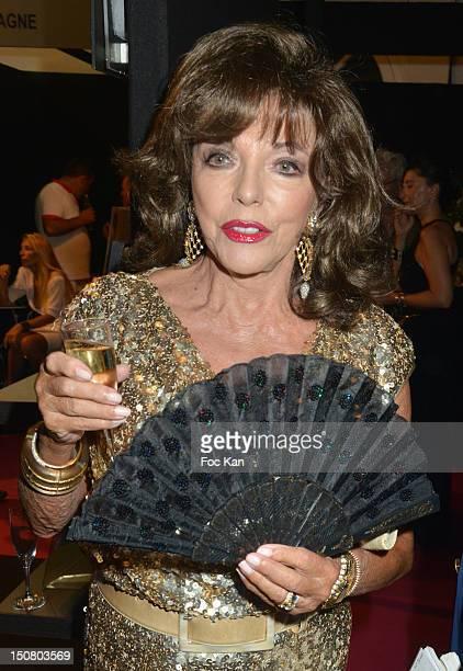 Joan Collins attends the 1rst Salon de Prestige d'Arts et d'Antiquites Saint Tropez Massimo Gargia's Cocktail at the Salle Despas on August 25 2012...