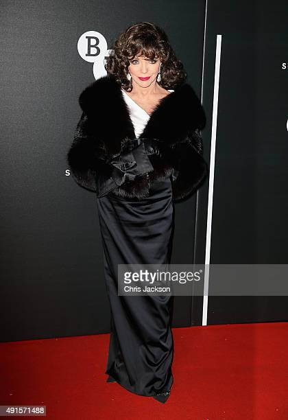 Joan Collins attends the BFI Luminous Funraising Gala at The Guildhall on October 6 2015 in London England