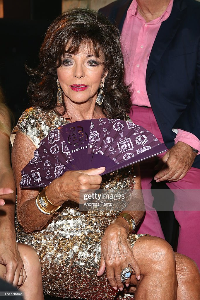 <a gi-track='captionPersonalityLinkClicked' href=/galleries/search?phrase=Joan+Collins&family=editorial&specificpeople=109065 ng-click='$event.stopPropagation()'>Joan Collins</a> attends the Denise Rich annual party on July 17, 2013 in Saint-Tropez, France.