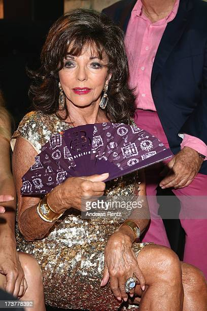 Joan Collins attends the Denise Rich annual party on July 17 2013 in SaintTropez France