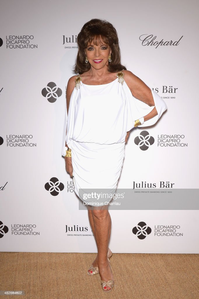 Joan Collins attends the Leonardo Dicaprio Gala at Domaine Bertaud Belieu on July 23, 2014 in Saint-Tropez, France.