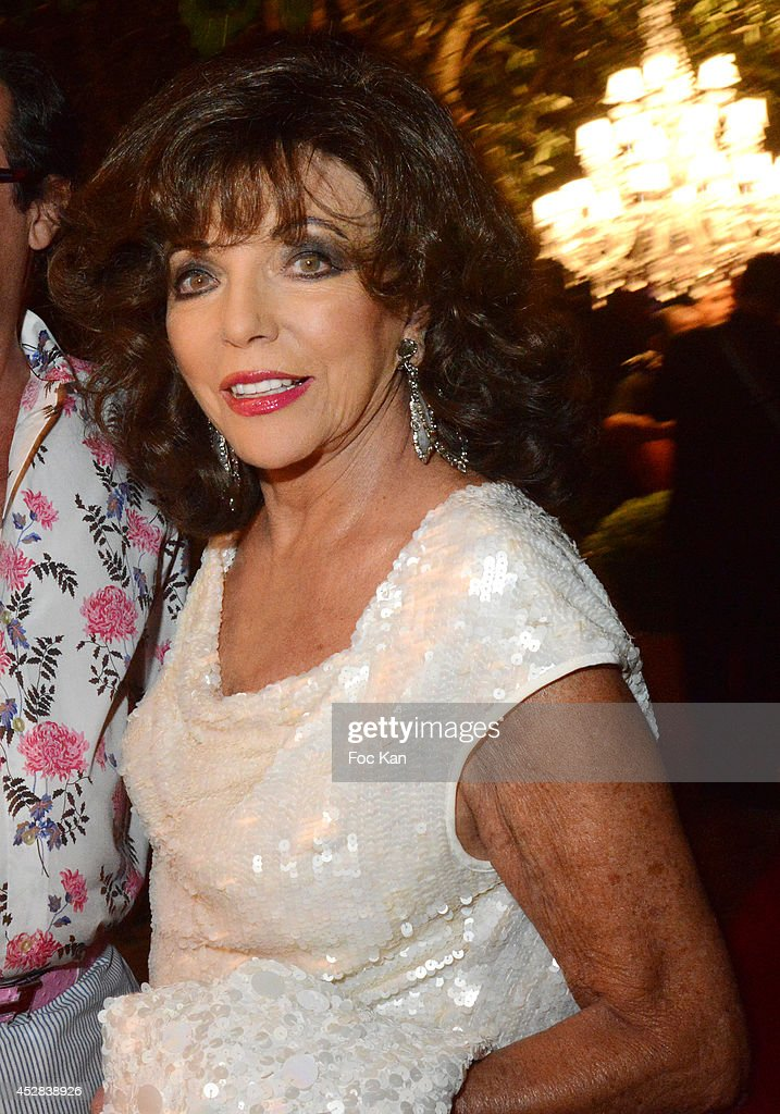 Joan Collins attends the Monika Bacardi Summer Party 2014 St Tropez at Les Moulins de Ramatuelle on July 27, 2014 in Saint Tropez, France. Ê