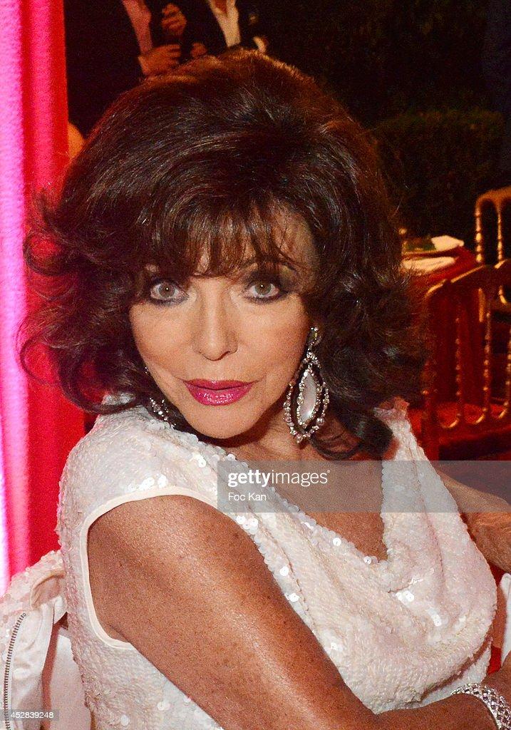 Joan Collins attends the Monika Bacardi Summer Party 2014 St Tropez at Les Moulins de Ramatuelle on July 27, 2014 in Saint Tropez, France.
