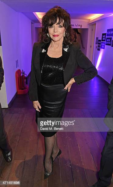 Joan Collins attends the opening of the Lyric Hammersmith's Reuben Foundation Wing and 'Bugsy Malone' at the Lyric Hammersmith on April 28 2015 in...