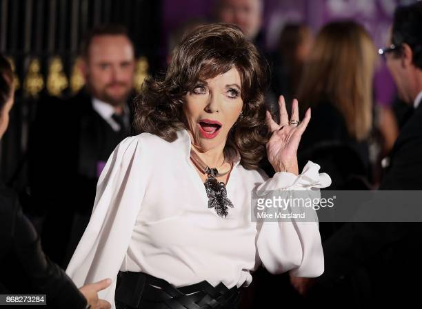 Joan Collins attends the Pride Of Britain Awards at Grosvenor House on October 30 2017 in London England