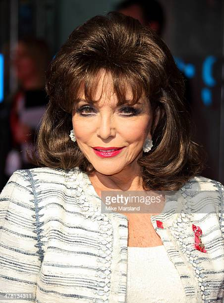 Joan Collins attends the Prince's Trust Samsung Celebrate Success awards at Odeon Leicester Square on March 12 2014 in London England