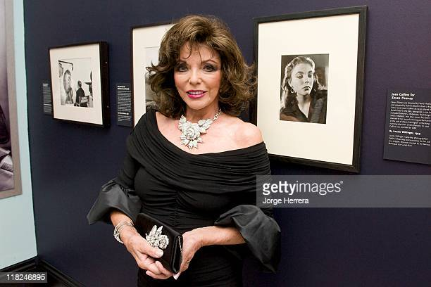 Joan Collins attends the private view of 'Glamour of the Gods' at the National Portrait Gallery on July 5 2011 in London England