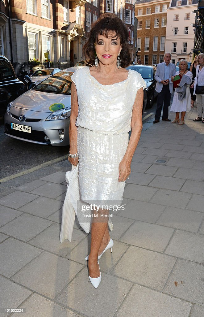 Joan Collins attends The Spectator Summer Party at Spectator House on July 3, 2014 in London, England.