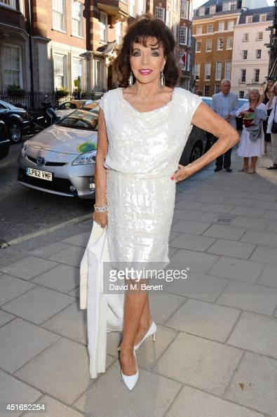 Joan Collins attends The Spectator Summer Party at Spectator House on July 3 2014 in London England