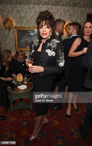 Joan Collins attends the World Premiere after party for 'The Time Of Their Lives' at 5 Hertford Street on March 8 2017 in London England