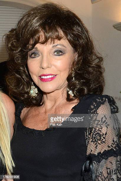 Joan Collins attends tthe Massimo Gargia's Party hosted by Richard Roizen at Villa Les Acanthes In SaintTropez on August 11 2013 in Saint Tropez...