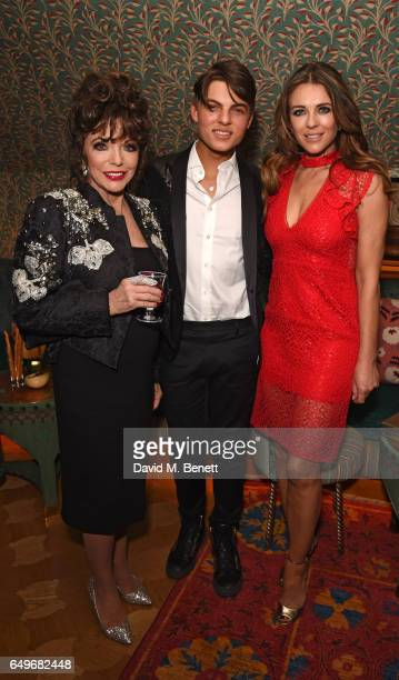 Joan Collins Damian Hurley and Elizabeth Hurley attend the World Premiere after party for 'The Time Of Their Lives' at 5 Hertford Street on March 8...