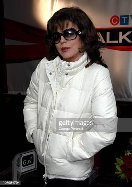 Joan Collins during 31st Annual Toronto Internation Film Festival eTalk Tastemaker Lounge Sponsored by Flare Magazine at Hotel InterContinental in...
