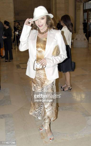 Joan Collins during Dennis Basso Fall/Winter 2005 Fashion Show at Astor Hall New York Public Library in New York City New York United States