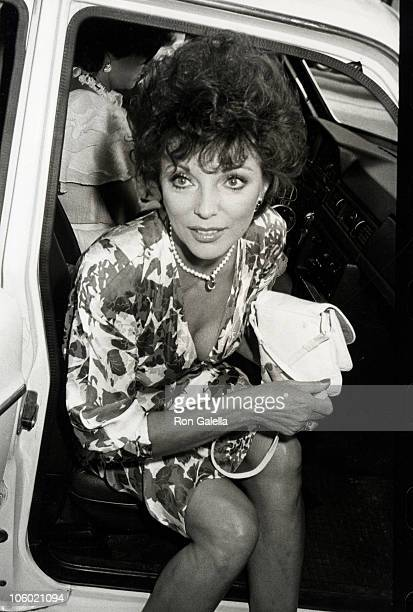Joan Collins during Jackie Collins' 'Hollywood Wives' Book Party July 26 1983 at Ryan's Place in Los Angeles California United States