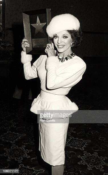 Joan Collins during Joan Collins Honored with a Star on the Hollywood Walk of Fame at Hollywood Walk of Fame in Hollywood California United States