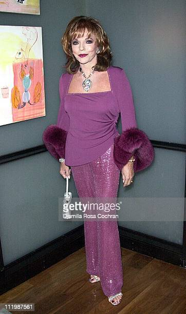 Joan Collins during Joan Collins Launches Her New Book 'Star Quality' at the Chambers Hotel at Chambers Hotel in New York City New York United States