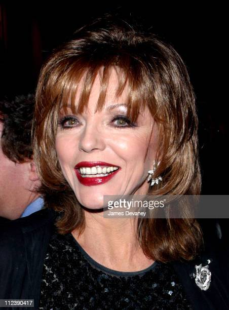 Joan Collins during 'My Old Lady' Opening Night at the Promenade Theater at Promenade Theater in New York City New York United States