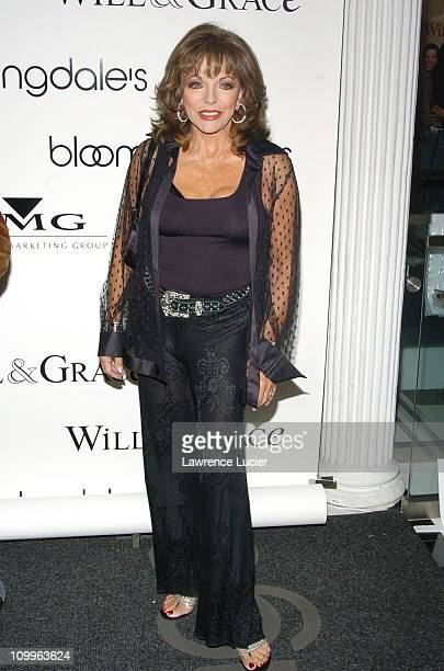 Joan Collins during The Cast of Will Grace Celebrates the Launch of their New CD Will Grace Let The Music Out at Bloomingdales September 15 2004 at...