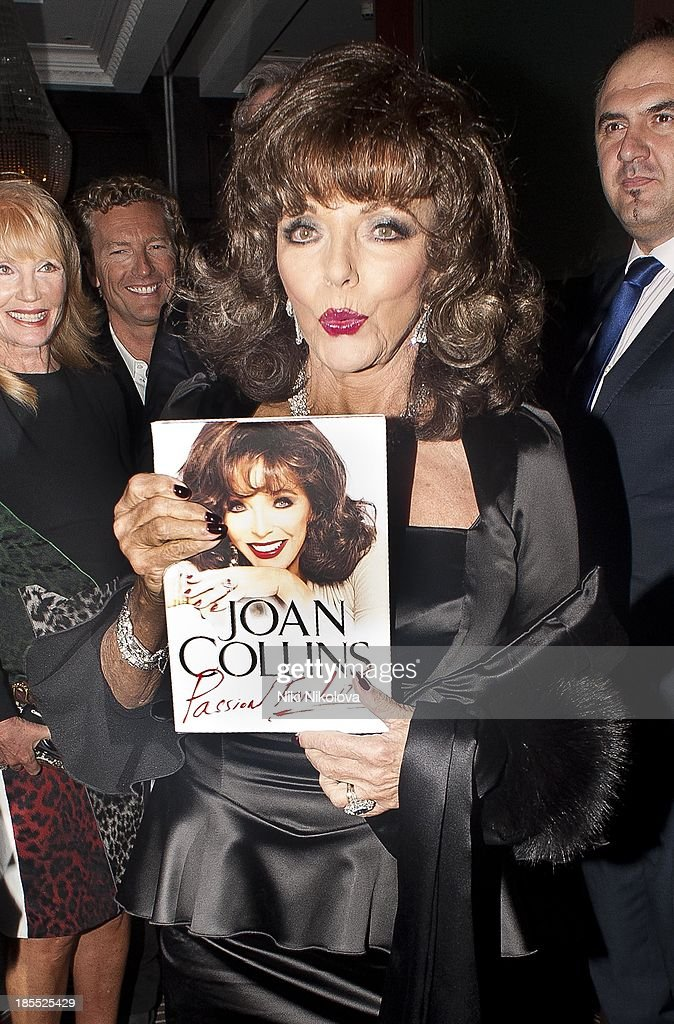 <a gi-track='captionPersonalityLinkClicked' href=/galleries/search?phrase=Joan+Collins&family=editorial&specificpeople=109065 ng-click='$event.stopPropagation()'>Joan Collins</a> is sighted leaving the Westbury Hotel, Mayfair on October 21, 2013 in London, England.