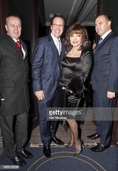 Joan Collins is sighted leaving the Westbury Hotel Mayfair on October 21 2013 in London England
