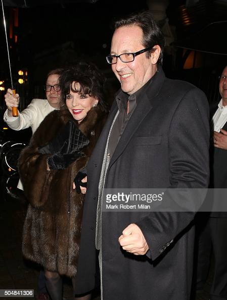 Joan Collins leaving the Chiltern Firehouse on January 13 2016 in London England