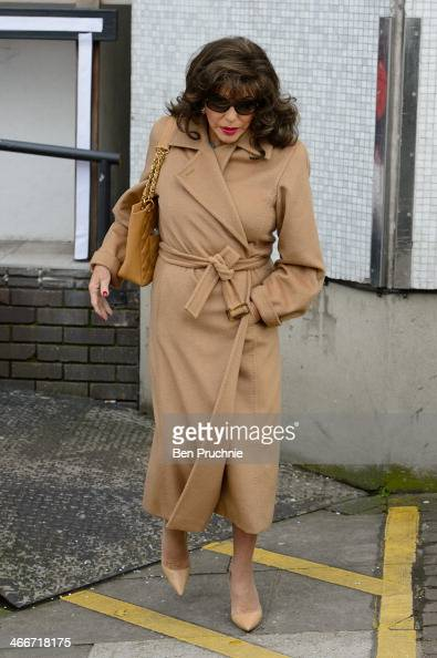 Joan Collins sighted at ITV Studios on February 3 2014 in London England