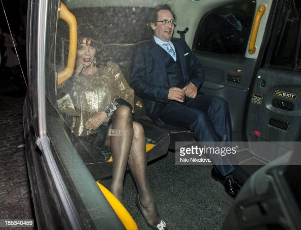 Joan Collins sighted leaving lulu Restaurant Mayfair on October 18 2013 in London England