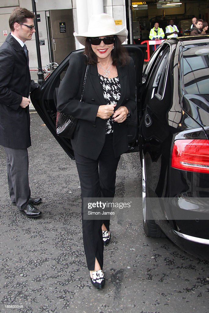 Joan Collins sighting at the BBC on October 25, 2013 in London, England.