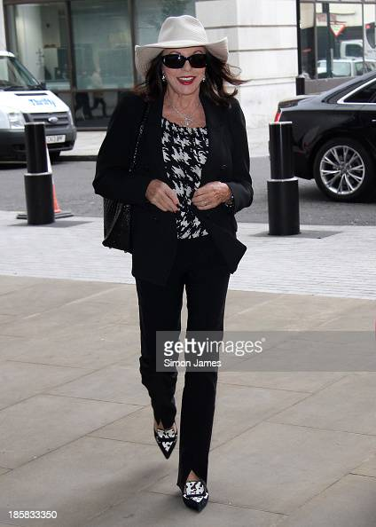 Joan Collins sighting at the BBC on October 25 2013 in London England