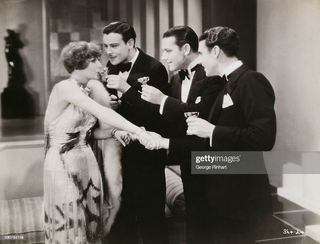Joan Crawford Nils Asther John Boles and Ramon Novarro in a scene from the Metro Goldwyn Mayer film Our Dancing Daughters directed by Harry Beaumont